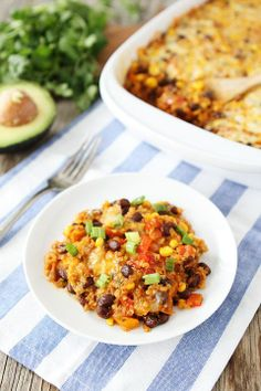 Black Bean and Quinoa Enchilada Bake--Healthy, quick and easy dinner. Serve with tortilla chips and a cilantro lime sauce.
