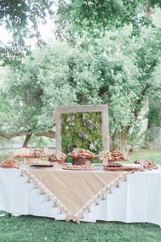 Dessert table display, Tubac AZ wedding, Tubac Chapel, Arizona wedding portrait Destination wedding photographer Elizabeth McDonnell Photography Mara Hoffmann Weddings, southwest wedding