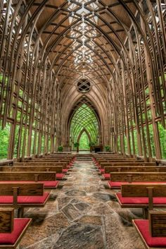 Mildred B. Cooper Memorial Chapel in Bella Vista, Arkansas -- beautiful glass chapel in the woods; beyond perfect for a small and intimate wedding
