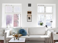 my scandinavian home: A Swedish apartment in pretty white, blue and cognac
