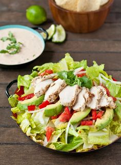 Chipotle Chicken Taco Salad Gluten Free - It's hearty and filling, but won't leave you needing an after-dinner nap.