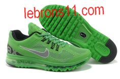 New Mens Nike Air Max+ 2013 Running Apple Green Shoes