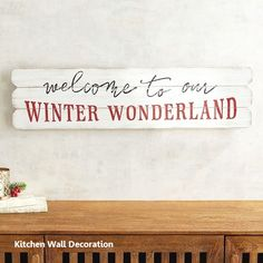 Winter Wonderland Wall Decor is part of Winter decor Cheap - Modern Kitchen Wall Decor, Kitchen Wall Design, Wall Decor Design, Kitchen Themes, Kitchen Wall Art, Wall Art Decor, Kitchen Walls, Holiday Signs, Christmas Signs
