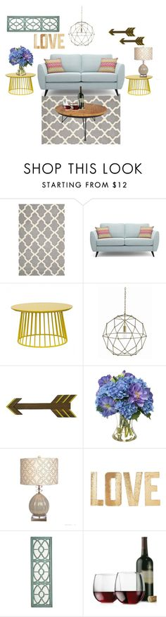 """""""Future Living Room-So Cool!!"""" by shelbiewoerman on Polyvore featuring interior, interiors, interior design, home, home decor, interior decorating, Safavieh, Currey & Company, Diane James and PBteen"""