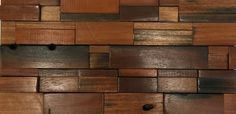 Wood Accent Wall Interlocking Sheets Antique Boat Wood DIY Wood Project Wood Wall Tiles, Wood Backsplash, Wood Mosaic, Mosaic Glass, Mosaic Tiles, Rustic Wood Headboard, Rustic Wood Walls, Diy Wood, Easy Tile