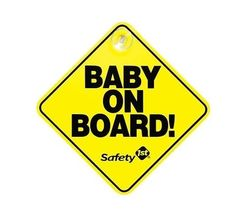 Baby on Board Car Sign with Suction Cup Yellow Safety 1st  #Safety1st