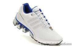 Men's Adidas Porsche Design 4 Running Shoes Full Head Leather A  White Blue|only US$85.00 - follow me to pick up couopons.