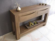 cardboard sideboard table - wood imitation.