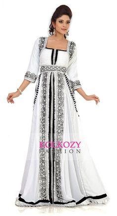 Moroccan Kaftan / Caftan Dress - Dubai Arabic Kaftan Abaya Khaleeji Jalabiya