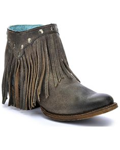 Dingo Women's Buck The Rules Fashion Booties - Snip Toe | Boot Barn Fringe Ankle Boots, Fringe Booties, Mid Calf Boots, Kids Western Boots, Kids Boots, Western Cowboy, Cowboy Boots, Corral Boots Womens, Zapatos