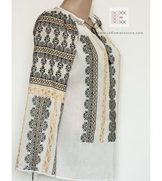 For sale Romanian hand embroidered peasant blouses - best price - worldwide delivery - Folk fashion Romania Folk Costume, Costumes, Folk Fashion, Peasant Blouse, Blouse Online, Traditional Outfits, Clothing Patterns, Sweaters, Stuff To Buy