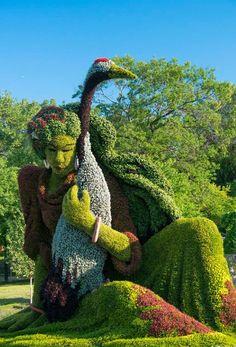 Incredible Plant Sculptures - Montreal Botanical Garden, Canada