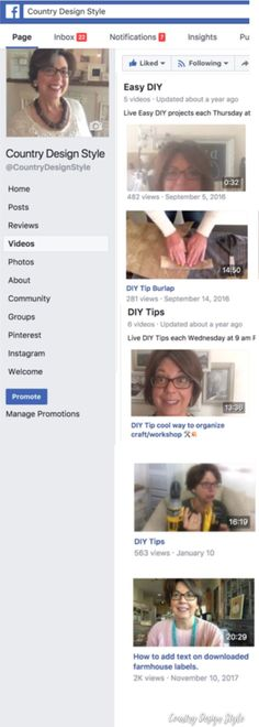 Do you learn best by watching videos?  I\'ve created over 200 DIY videos on Country Design Style Facebook Page.  Many live DIY videos.  Click over to see the growing DIY video library.  | Country Design Style | countrydesignstyl... #DIYVideo