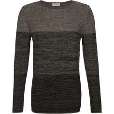 Cooler grauer Pullover von Jack & Jones. Er hat ein dezentes Block-Design und kann mit Jeans oder Chinos kombiniert werden. - ab 24,90 €