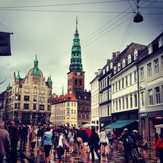 Strøget in København, Region Hovedstaden Copenhagen Tourist Attractions, Copenhagen Denmark, Pedestrian, Four Square, Wander, Travelling, The Neighbourhood, Street View, City