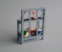 Flip-flop en strandbal staan 1:12 of 1/12 schalen Dollhouse