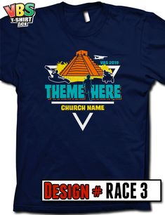 27c4c68cf6 Customize your 2019 VBS shirt design for The Incredible Race theme. You  pick the shirt