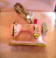 Juciy Couture sewing machine charm