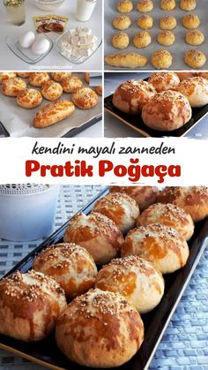 Bread Recipes, Cooking Recipes, Turkish Kitchen, Bakery, Muffin, Food And Drink, Yummy Food, Breakfast, Kebabs