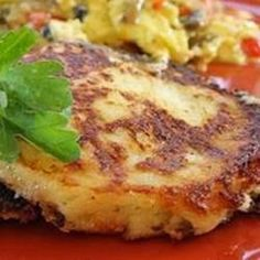Crispy Mashed Potato Pancake - Using leftover mashed potatoes and just a few basic ingredients.  You may need to omit the chives, depending on your GP tolerance level.  Instead of pan frying them, bake them in the oven on a wire rack (425 degrees until golden brown - 15min)