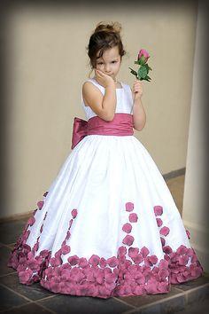 Silk Dupioni Rose Petal Gown Custom Size/Colors by richelleleanne #bLBride