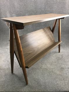 Mid Century Danish Modern Walnut Leg & Formica Book Shelf Console Table $239.99 #MidCenturyModern #DanishModern