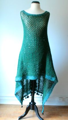 Etsy Transaction - Crochet Poncho / Cape / Shrug / Shawl / Wrap / Hood - Emerald Teal Turquoise