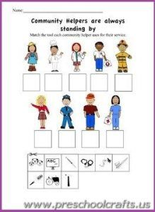 19 best Community Helpers Printable Worksheets for Kids images on ...