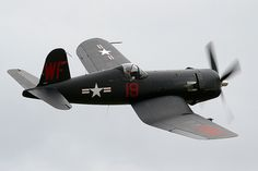 Vaught F4U Corsair, in flight action. I love this war-bird.