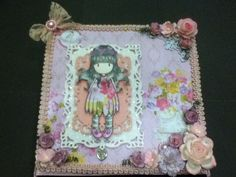 Shabby Easel Box Card - Front