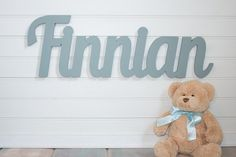 Wooden name sign Baby Name Plaque Large by MoonSnailCreations1, $45.00