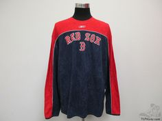 Reebok Boston Red Sox Fleece Crewneck Sweatshirt sz 2XL 2 Extra Large XXL Ortiz #Reebok #BostonRedSox