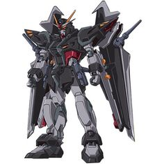 GAT-X105E+AQM/E-X09S Strike Noir Gundam
