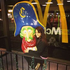 Instagram user Principessa Steffani shared this photo of the playground spiral slide topper featured McDonaldland's loved character, Captain Crook.