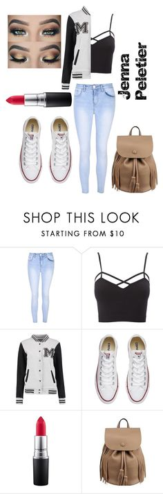 """Untitled #35"" by ariauna-smith on Polyvore featuring Glamorous, Charlotte Russe, Converse, MAC Cosmetics and plus size clothing"