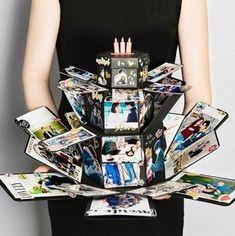EBG-Love explosion box, DIY handmade photo album customization, creative couple romantic birthday gift, photo album and scrapbook Magic Box, Gifts For Your Boyfriend, Birthday Gifts For Boyfriend, Boyfriend Girlfriend, Boyfriend Cake, Love Gifts, Diy Gifts, Handmade Gifts, Exploding Gift Box