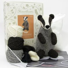Badger Amigurumi Crochet and Needle Felting by HawthornHandmade