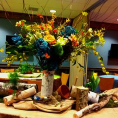Rustic Floral Centerpiece by Cindy Dunn.