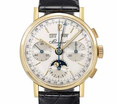1970s Breguet wristwatch chronograph and moonphase
