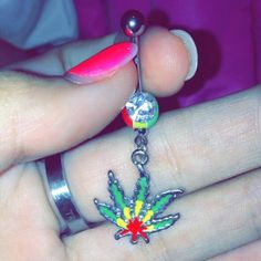 Weed Belly Rings Marrrrryyyjane belly button rings. :) Hot Topic Accessories