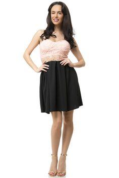 Γυναικείο φόρεμα   με δαντέλα Formal Dresses, Black, Style, Fashion, Dresses For Formal, Swag, Moda, Formal Gowns, Black People