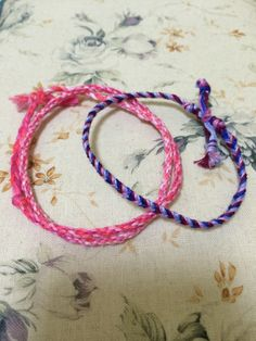 DIY Bracelets using embroidery floss:) Made by Zoë©.