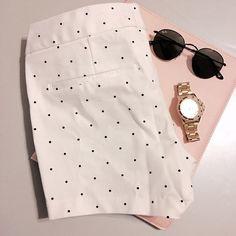 White and Black Polka Dots Shorts Cute shorts for oldnavy with black polka dots. Old Navy Shorts