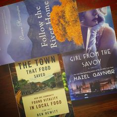 """Deb Christensen on Instagram: """"Big bookmail day... my favorite kind. Two for June book tours: 'Follow the River Home' by Corran Harrington & 'The Girl From the Savoy' by Hazel Gaynor & one prize: 'The Town That Food Saved' by Ben Hewitt. #tlcbooktours #bookstagram #bookmail #reader #bookreview #booklover #foodiesread #bookblogger"""""""