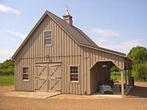 Red barn garage on pinterest garage plans breezeway and for Star building garage packages