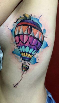 Aerostátic tattoo by Juan David Castro R Tattoo 2015, I Tattoo, Air Balloon, Balloons, Tattoo Geometrique, Petit Tattoo, Best Tattoo Shops, Tattoo Videos, My Canvas
