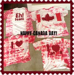 DIY Canada Day t-shirts Canada Day T Shirts, Happy Canada Day, Canada 150, How To Tie Dye, Dye Shirt, Family Day, Girl Scouts, Holiday Fun, Red And White