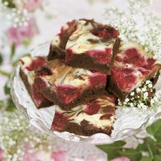 Brownies med hallon