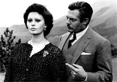 Matrimonio all'italiana. Sophia Loren, Marcello Mastroiani.