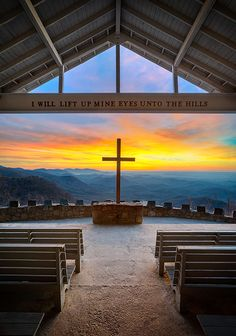 An incredibly brilliant sunrise from Pretty Place Chapel in the Blue Ridge Mountains. This amazing outdoor chapel is at the edge of the Blue Ridge Mountains in South Carolina, only a couple of miles from the North Carolina border. Pretty Place Chapel is a super popular spot to get married and it's easy to see why! www.facebook.com/loveswish www.liberatingdivineconsciousness.com